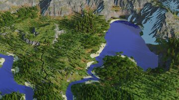 3k by 3k Multibiome Terrain Minecraft Map & Project