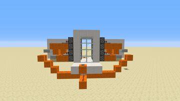 4x2 flush piston door Minecraft Map & Project