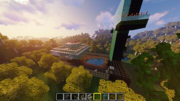 auto farms in a birch buffet with a pool Minecraft Map & Project