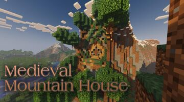 Medieval Mountain House Minecraft Map & Project