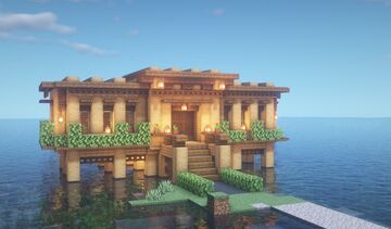 Simple lake house Minecraft Map & Project