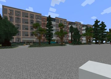 RESIDENTIAL SOVIET NEIGHBOURHOOD APARTMENTS | FULL CUSTOMIZABLE INTERIOR Minecraft Map & Project