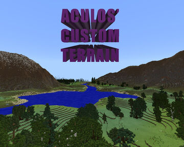 Aculos' Custom Terrain Minecraft Map & Project