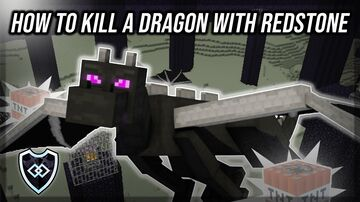 How to kill a dragon with Redstone | Obsidian Order SMP Minecraft Map & Project