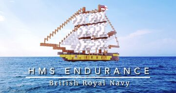 HMS Endurance | British Royal Navy Brig Minecraft Map & Project