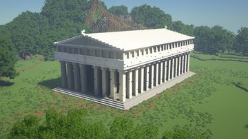Greek/Roman temple build - Miq3 Minecraft Map & Project