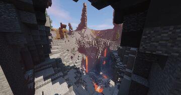 Mine island - Vulcano Minecraft Map & Project