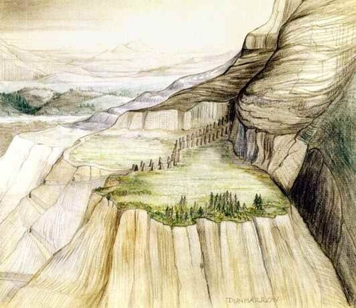 Tolkien's sketch of Dunharrow