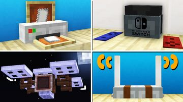 10 Electronic/Gadget Designs in Minecraft! (No command blocks) Minecraft Map & Project