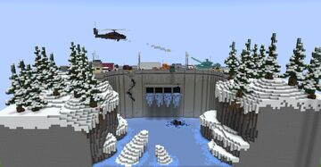 The Frozen Dam Minecraft Map & Project