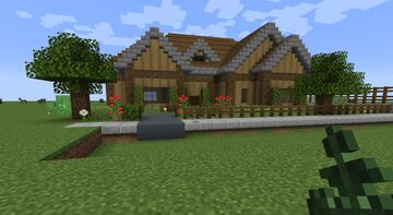 Small Craftsman Family Home Minecraft Map & Project