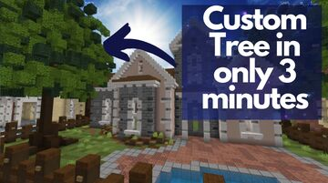 how to build an AMAZING OAK TREE in only 3 minutes Minecraft Map & Project