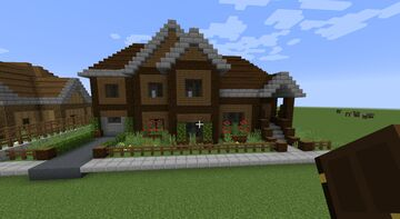 Large Craftsman Family Home Minecraft Map & Project