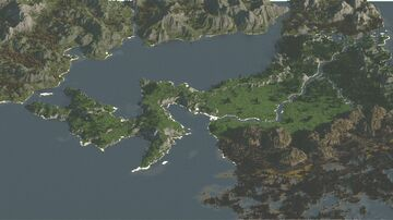 Valley of mountains - 5000x5000 Minecraft Map & Project