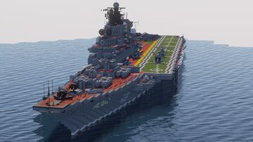 Minecraft Kiev aircraft carrier/ aircraft carrying cruiser 1:1 scale Minecraft Map & Project