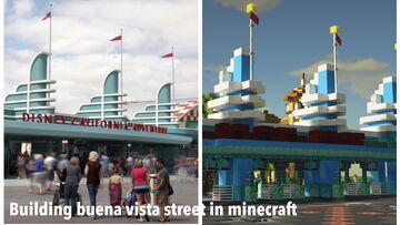 Recreation of Buena vista street located in Disneyland park in california! Minecraft Map & Project