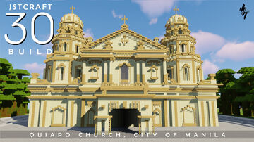 Quiapo Church in Manila, Philippines Minecraft Map & Project