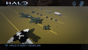 HALO 3 ODST - VEHICLES Minecraft Map & Project