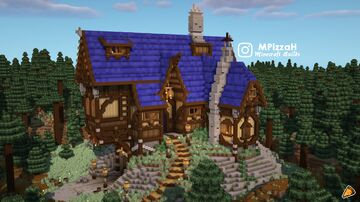 Medieval Inn / Tavern In The Woods Minecraft Map & Project