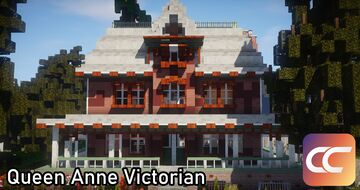 Queen Anne Victorian #4 | By: WinterEvening | CCS Minecraft Map & Project