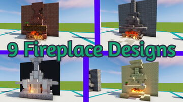 9 Fireplace Designs (DOWNLOAD) Minecraft Map & Project