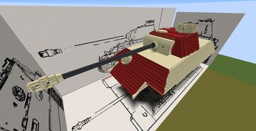Panzerkampfwagen V Auf.G (around 32/34:1 scale) Minecraft Map & Project