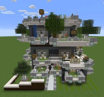 2x2 House Minecraft Map & Project