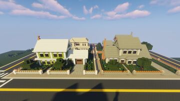 4 in 1 Suburban Houses Map and Schematic - 2 Minecraft Map & Project