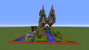 Small water mill | Plots - 13 Minecraft Map & Project