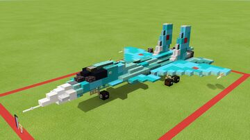 Sukhoi SU-34 Fullback 1.5-1 scale Minecraft Map & Project