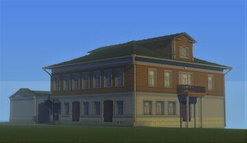 The estate of the merchant Sergei Ivanovich Shokin [Усадьба купца Сергея Ивановича Шокина]. Minecraft Map & Project
