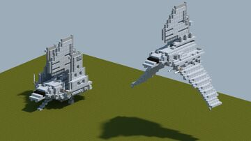 StarWars Lambda-class T-4a shuttle [With Download] Minecraft Map & Project