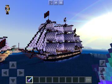 Pirate frigate Minecraft Map & Project