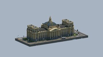 Imperial Parliament (adaptation of Reichstag Building) Minecraft Map & Project