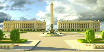 Place de la Concorde | Paris, France Minecraft Map & Project