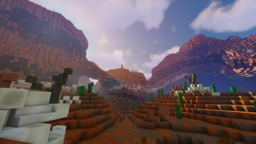 The arid valley Minecraft Map & Project