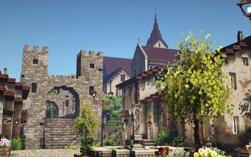 Saint-Pierre-l'Abbaye: Monastery and village Minecraft Map & Project