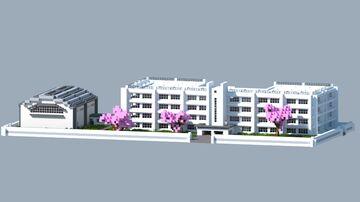 Japanese High School - Karasuno HS from Haikyuu Minecraft Map & Project