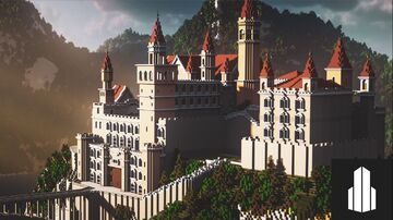 Minecraft Fantasy Castle [DOWNLOAD] - Fairytale Castle in Guizhou Minecraft Map & Project