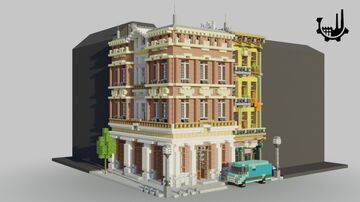 City Bank | Minecraft Town House Minecraft Map & Project