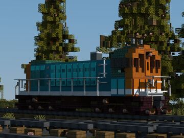 "Alco S-4 loco ""Grand Trunk"" switcher Minecraft Map & Project"