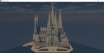 La Sagrada Familia Minecraft Map & Project
