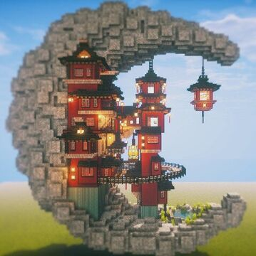 crescent moon Minecraft Map & Project