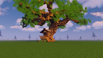 Treehouse | DOWNLOAD SCHEMATIC here! Minecraft Map & Project