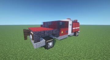 Ford F550 fire truck Minecraft Map & Project
