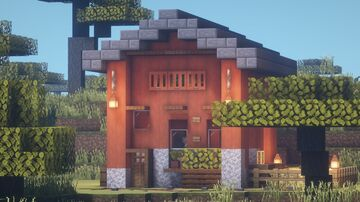 Minecraft : How to build a Acacia Wood House Minecraft Map & Project