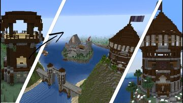 Transform Minecraft build - Pillager Outpost to CRAZY Medieval village Minecraft Map & Project