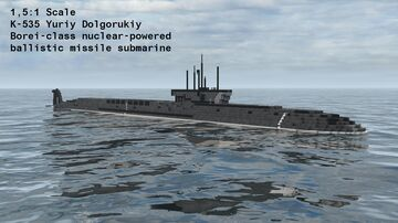 K-535 Yuriy Dolgorukiy | Borei-class nuclear-powered ballistic missile submarine Minecraft Map & Project
