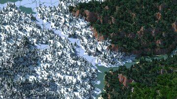 Сovered river - 5000x5000 (custom terrain) Minecraft Map & Project