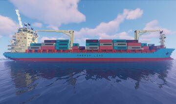 Maersk Alabama / Cargo ship (1:1 scale/1.12.2) Minecraft Map & Project